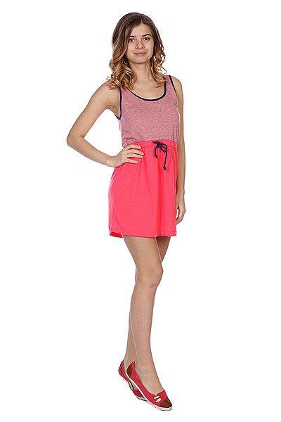 Платье женское Roxy Block Glow PinkПлатья<br>Стильное, короткое платье. Модель выполнена с кулиской на талии из хлопкового материала приятной расцветки. Отличный вариант для повседневного использования.Характеристики:Кулиска на талии. Короткий рукав.Свободный крой.<br><br>Размер EU: S<br>Размер EU: XS<br>Размер EU: M<br>Цвет: розовый<br>Тип: Платье<br>Возраст: Взрослый<br>Пол: Женский