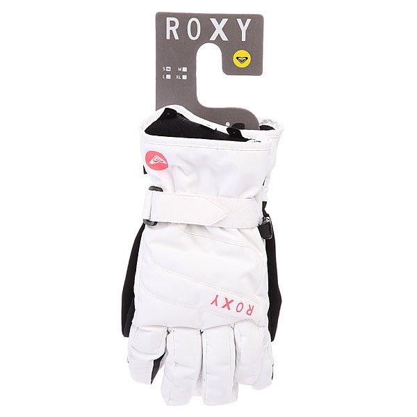 Перчатки сноубордические женские Roxy Mouna Solid Glove Bright White от BOARDRIDERS