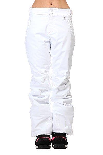 Штаны сноубордические женские Roxy Montana Pt Bright WhiteШтаны<br>Технические характеристики:     Утеплитель  – Thinsulate 40 гр. Мембрана DryFlight: 15,000 мм/15,000 гр.  Внутренние вставки из флиса на ягодицах и коленях.  Система регулировки ширины штанин.  Фиксированная система подтяжек с нагрудной панелью.Система крепления брюк к куртке.  Все швы проклеены водонепроницаемой лентой.  Сетчатая вентиляция с внутренней стороны бедра.  Двусторонние карманы. Система крепления штанин к ботинкам. Снегозащитные манжеты внутри штанин.  Знак качества ткани Bluesign. Фасон: стандартный (regular fit).<br><br>Размер EU: XL<br>Цвет: белый<br>Тип: Штаны сноубордические<br>Возраст: Взрослый<br>Пол: Женский