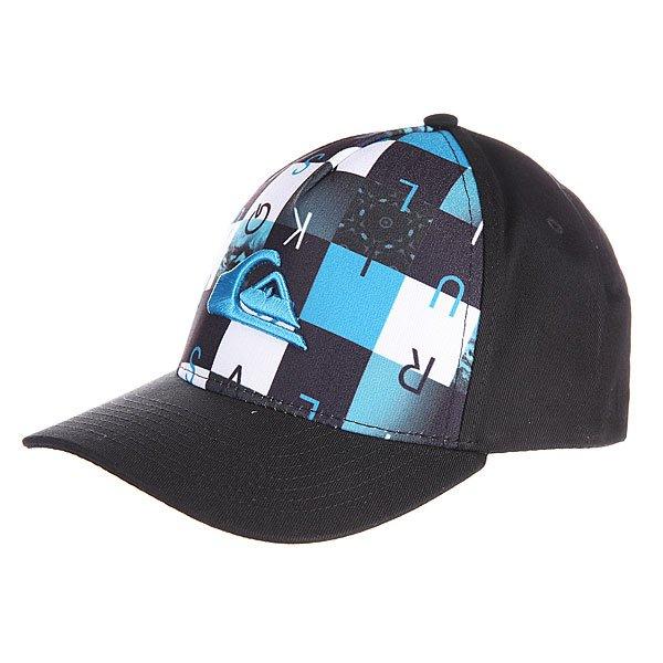 Бейсболка детская Quiksilver Pintails By Hats Hawaiian OceanБейсболки<br><br><br>Размер EU: One Size<br>Цвет: синий,черный<br>Тип: Бейсболка классическая<br>Возраст: Детский