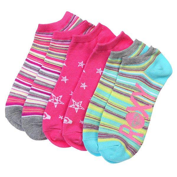 Носки низкие женские Roxy 3pk Sun Rise Stripe Ns MultiНоски<br><br><br>Размер EU: 36-41<br>Цвет: розовый,голубой,мультиколор<br>Тип: Комплект носков<br>Возраст: Взрослый<br>Пол: Женский