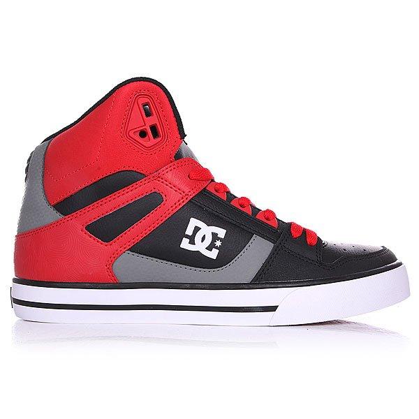 Кеды кроссовки высокие DC Spartan High Wc Red/Black/Grey от BOARDRIDERS