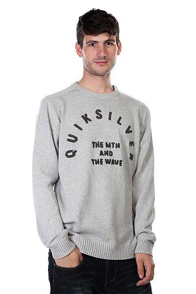 Свитер Quiksilver Bowled Out Light Grey HeatherСвитеры и Кардиганы<br>Мягкий свитер отлично согреет в холодную погоду!  Супермягкий текстиль yarn, контрастная аппликация из синели. Узкий крой, отделка обратной вязкой. Воротник, манжеты и подол в рубчик.<br><br>Размер EU: S<br>Размер EU: M<br>Размер EU: L<br>Размер EU: XL<br>Цвет: черный<br>Тип: Свитер<br>Возраст: Взрослый<br>Пол: Мужской