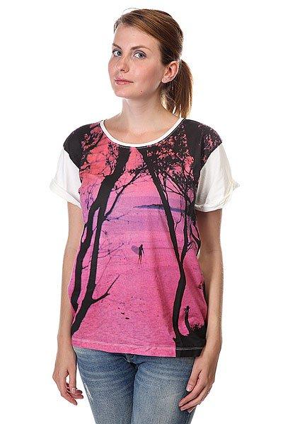 Футболка женская Roxy Boyfriendtee2a J Tees Sea SprayФутболки и Майки<br>Почувствуйте свободу в движениях в новой футболке с округлым вырезом горловины! Модель с короткими рукавами, средней длины. Очень легкая и приятная ткань. Эффектный принт.<br><br>Размер EU: L<br>Цвет: розовый,белый<br>Тип: Футболка<br>Возраст: Взрослый<br>Пол: Женский
