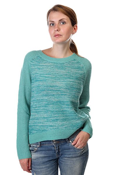 Свитер Roxy Shadow Play J Swtr Agate GreenСвитеры и Кардиганы<br>Этот теплый свитер согреет в холодную погоду!   Модель с округлым вырезом.  Отделка рукавов в цветной рубчик.  Ткань смешанного плетения.  Заниженный и скругленный подол сзади.  Металлический декоративный значок.<br><br>Размер EU: S<br>Размер EU: M<br>Размер EU: L<br>Цвет: зеленый<br>Тип: Свитер<br>Возраст: Взрослый<br>Пол: Женский