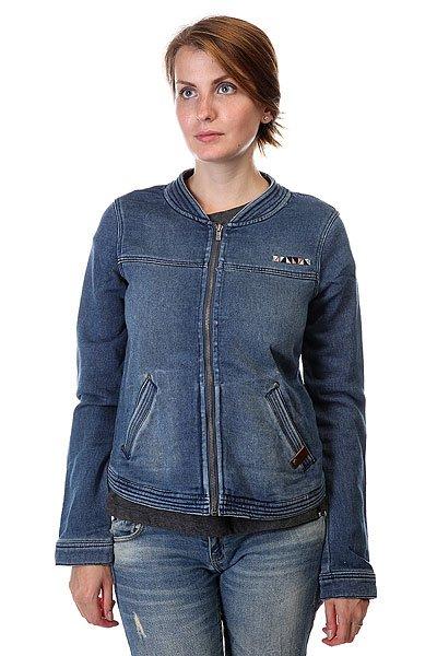 Куртка джинсовая Roxy Party J Otlr Vintage Med BlueТолстовки и Джемперы<br>Технические характеристики: Верх из комбинации материалов. Без подкладки.   Без утепления (осень/весна).   Застежка – молния.  Два боковых прорезных кармана.  Фасон – стандартный (regular fit).<br><br>Размер EU: S<br>Размер EU: XS<br>Размер EU: M<br>Цвет: синий<br>Тип: Куртка джинсовая<br>Возраст: Взрослый<br>Пол: Женский