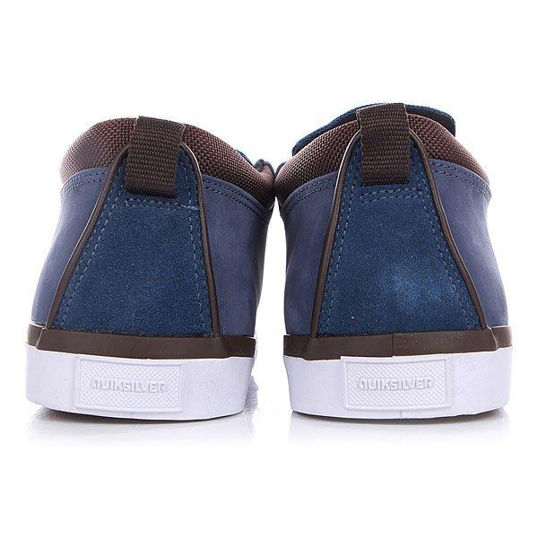 Кеды кроссовки Quiksilver Griffin Fg Blue/Brown/White от BOARDRIDERS