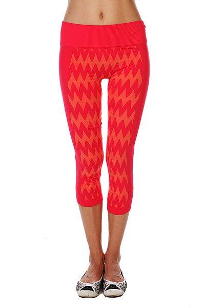 Леггинсы женские Roxy Stunner Seamles AzaleaЛеггинсы и шорты<br>Эти капри – то, что нужно для занятий спортом!  Преимущества:    Бесшовная модель.  Влаговыводящий текстиль.  Двухцветный жаккардовый зигзаг.  Широкий в йогическом стиле пояс в рубчик.  Технология Dry Flight.<br><br>Размер EU: M<br>Размер EU: L<br>Цвет: красный,оранжевый<br>Тип: Леггинсы<br>Возраст: Взрослый<br>Пол: Женский