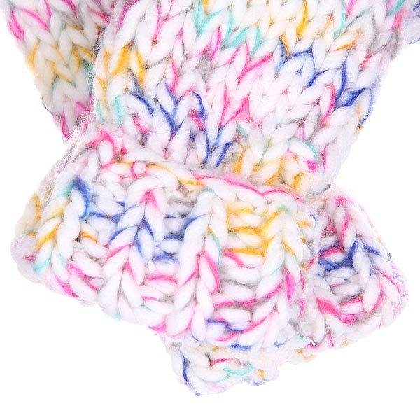 Варежки женские Roxy Nola Mittens Pinky Bright White от BOARDRIDERS