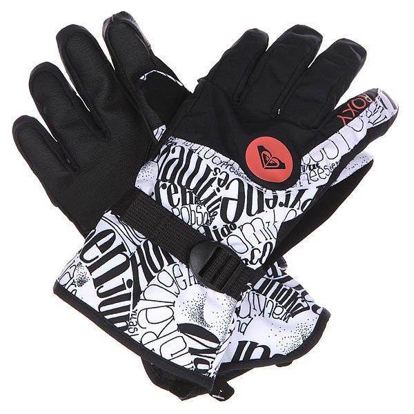Перчатки сноубордические женские Roxy Jetty Gloves Typoswirl bright WhiteПерчатки<br>Удобные перчатки, выполненные из влагостойкой тканиDry Flight с утеплителем. Ваши руки останутся в тепле и сухости, в то время как вокруг Вс будет свистеть ветер и падать снег, а благодаря совместимости с сенсорными экранами Вы всегда сможете оперативно ответить на сообщение, не снимая перчаток. Характеристики:Влагостойкая мембранаDry Flight. Утеплитель: 160 г. Подкладка: трикотаж с начесом. Классический крой. Совместимость с сенсорным экраном (указательный палец). Анатомически изогнутый крой. Стреп регулировки запястья. Вставка из мягкого полиэстера на большом пальце для протирки оптики. Эластичный лиш. Логотип на внешней стороне.<br><br>Размер EU: L<br>Цвет: черный,белый<br>Тип: Перчатки сноубордические<br>Возраст: Взрослый<br>Пол: Женский