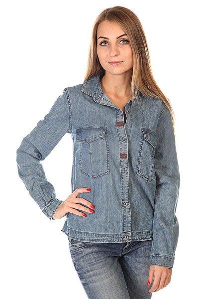 Рубашка женская Roxy Fair View PeacoatРубашки<br>Дополните свой образ оригинальной рубашкой от культового бренда!  Модель выполнена из мягкого материала с эффектной текстурой. Длинные рукава, отложной воротник &amp;ndash; идеально дополняют.<br><br>Размер EU: S<br>Размер EU: XS<br>Размер EU: M<br>Размер EU: L<br>Цвет: синий<br>Тип: Рубашка<br>Возраст: Взрослый<br>Пол: Женский