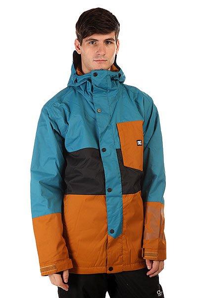 Куртка DC Defy Jkt FaienceКуртки<br>Надежная защита от любой непогоды и смелый, асимметричный стиль делают куртку DC Defy отличным выбором, независимо от того, где Вы можете оказаться. Влагостойкий материал Exotex 10K в сочетании с утеплителем сохранят Вас в тепле и сухости, а сетчатые карманы для вентиляции позволят отрегулировать температуру прямо на ходу.                                                                Технические характеристики: Утеплитель -тинсулейт.Подкладка - тафта.Водонепроницаемая мембрана - Exotex 10K(10 000 мм / 10 000 г).Проклеенные швы. Высокий воротник стойка.Фиксированный  капюшон.Сеточная вентиляция.Фиксированная снежная юбка.Манжеты из лайкры с отверстием для большого пальца.Подол с утяжкой.Нагрудный медиакарман на молнии.Карман для скипасса на молнии.Карман для маски.Два боковых кармана для рук на молнии.Застежка - молния+кнопки.Регулируемые манжеты на рукавах на липучках.Фасон: стандартный (regular fit).<br><br>Размер EU: M<br>Цвет: голубой,коричневый<br>Тип: Куртка утепленная<br>Возраст: Взрослый<br>Пол: Мужской