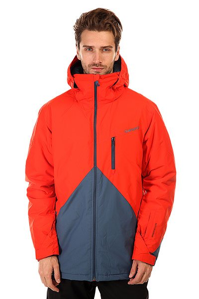 Куртка Quiksilver Mission Block PoincianaКуртки<br>Мужская сноубордическая куртка Mission Block из новой сноубордической коллекции Snow Everyday. Современный утеплитель Polyfill обеспечит тепло и комфортное катание в течении всего дня.  Можете быть уверены что снег, ветер и непогода не помешают Вам получить максимум удовольствия от катания.<br>Технические характеристики: Подкладка -  влаговыводящая тафта.Водонепроницаемая мембрана Dry Flight 10K(10 000 мм/10 000г).Критические швы проклеены.Высокий воротник-стойка.Защита подбородка от натирания молнией из микрофибры.Нагрудный карман на молнии.Два боковых кармана на молнии.Потайной карман.Сеточная вентиляция.Карман для скипасса.Карман для маски.Система крепления штанов к куртке.Фиксированная противоснежная юбка из синтетической тафты.Регулируемые манжеты на липучках.Лайкровые манжеты.Подол с утяжкой.Застежка - молния.Фасон - удлиненный (tailored fit).<br><br>Размер EU: S<br>Размер EU: XS<br>Размер EU: XL<br>Цвет: оранжевый,серый<br>Тип: Куртка утепленная<br>Возраст: Взрослый<br>Пол: Мужской