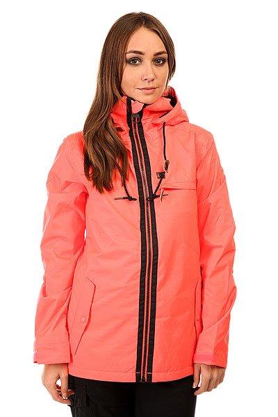Куртка женская DC Revamp Jkt Fiery CoralКуртки<br>Лаконичный дизайн и самый необходимый функционал для Вашего комфорта на склоне собран в куртке DC Revamp. Влагостойкая ткань Exotex 10K и утеплитель позволят оставаться в комфорте на протяжении всего дня катания. А нагрудный карман на молнии и карман на рукаве для ски-пасса добавят удобства для нахождения на склоне. Характеристики:Влагостойкая ткань Exotex 10K. Утеплитель: 80 гр туловище, 40 гр рукава. Подкладка: тафта. Свободный кройTailored. Сетчатые карманы подмышками для вентиляции. Проклеенные в стратегических местахшвы. Снегозащитная юбка. Капюшон с 2 вариантами регулировки. Небольшой логотип на груди. Карман на липучке на рукаве для ски-пасса. Два кармана для рук на молнии с клапаном. Нагрудный карман на молнии. Внутренний сетчатый карман. Внутренний медиа-карманкарман на липучке. Коллекция Research Mountain.<br><br>Размер EU: M<br>Цвет: розовый<br>Тип: Куртка утепленная<br>Возраст: Взрослый<br>Пол: Женский