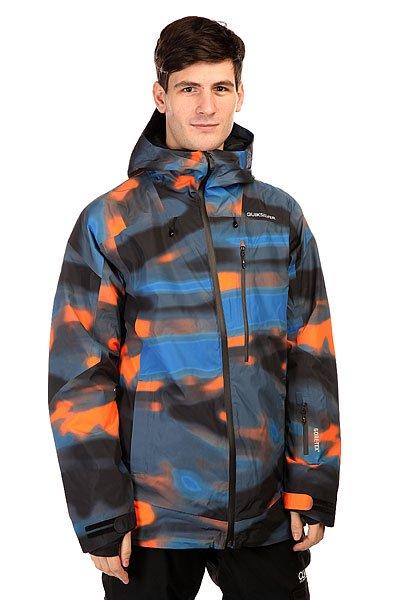 Куртка Quiksilver Inyo Print Jkt Alaskan Blur OrangeКуртки<br>Куртка Quiksilver Inyo отличается невероятным влагопоглощением, а значит – вы никогда не промокнете и сможете беззаботно наслаждаться любимым занятием. Характеристики:Мембрана Gore-Tex.  Внутренняя подкладка из тафты. Утеплитель – 3M™ Thinsulate™60 гр тело,  40 г рукава.Застежка-молния. Швы проклеены влагонепроницаемой лентой Gore-Seam. Фиксированная снегозащитная «юбка».Внутренний карман для защитной маски. Вентиляционные отверстия подмышками на молнии. Прорезные карманы для рук.Фасон: стандартный (regular fit).<br><br>Размер EU: S<br>Размер EU: XS<br>Размер EU: M<br>Цвет: мультиколор<br>Тип: Куртка утепленная<br>Возраст: Взрослый<br>Пол: Мужской