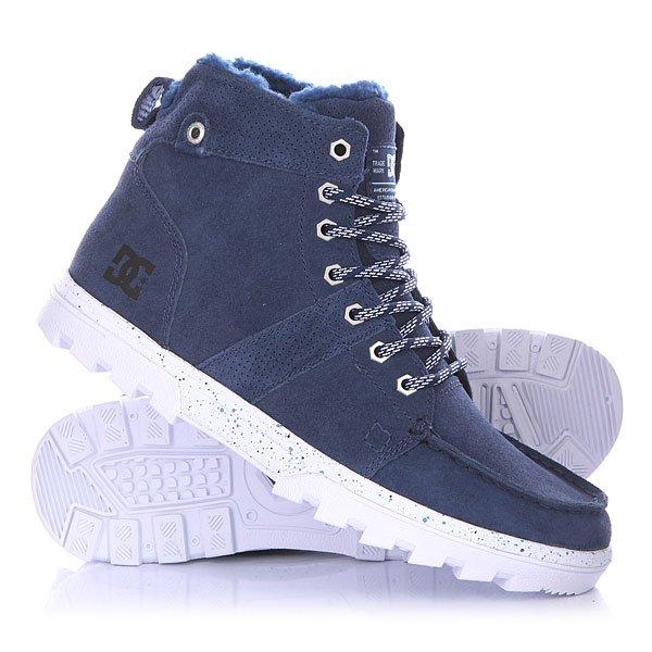 Ботинки высокие DC Woodland BlueБотинки<br>Мужские ботинки Woodland от DC Shoes.Технические характеристики: Обеспечивают полноценное тепло и комфорт.Замшевый верх.Подкладка из шерпы.Круглая шнуровка.Шестигранные металлические люверсы.Удобные язык и лодыжка с пенным наполнителем.Грубая подошва.<br><br>Размер EU: DC man B: 8us 40.5eur 26.25cm<br>Размер EU: DC man B: 12us 46eur 29.25cm<br>Цвет: синий<br>Тип: Ботинки высокие<br>Возраст: Взрослый<br>Пол: Мужской