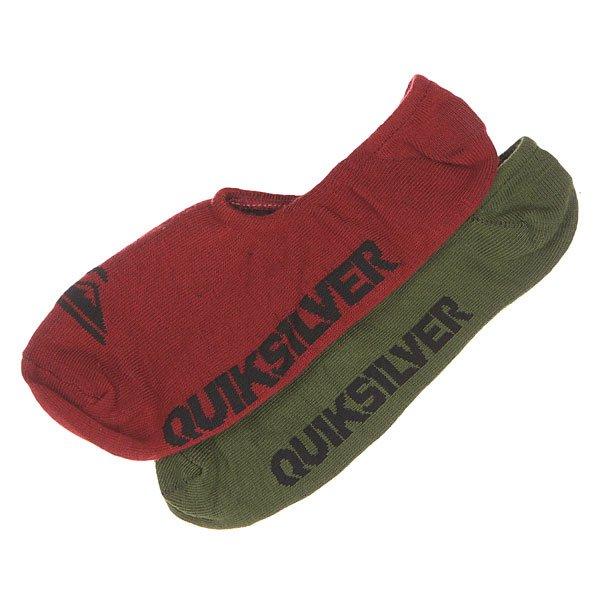 Носки низкие Quiksilver 2pk True No Show Rosewood MultiНижнее белье<br><br><br>Размер EU: 40-45<br>Цвет: зеленый,бордовый<br>Тип: Носки низкие<br>Возраст: Взрослый<br>Пол: Мужской