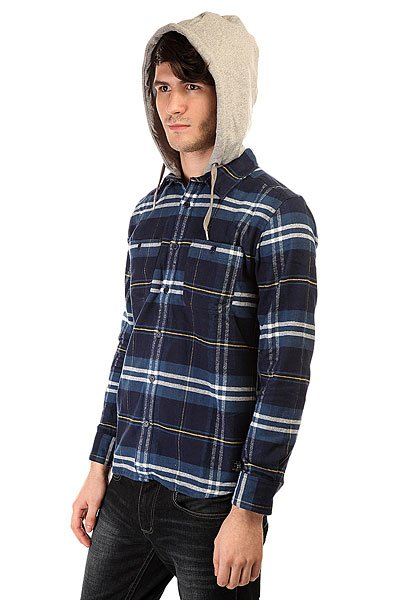 Рубашка в клетку DC Hood Up Blue Iris от BOARDRIDERS