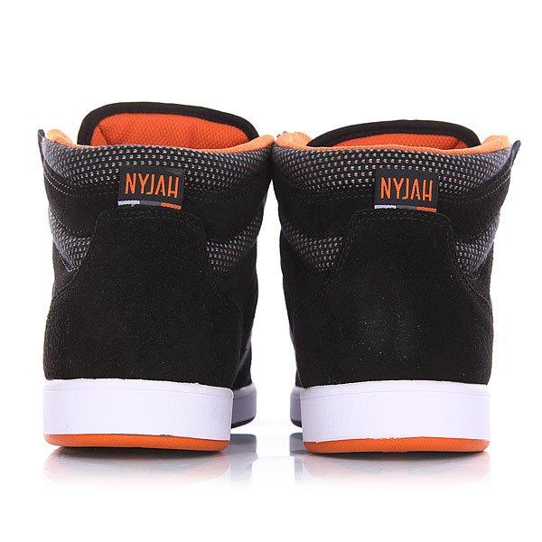 Кеды кроссовки высокие DC Nyjah High Se Black/Orange от BOARDRIDERS