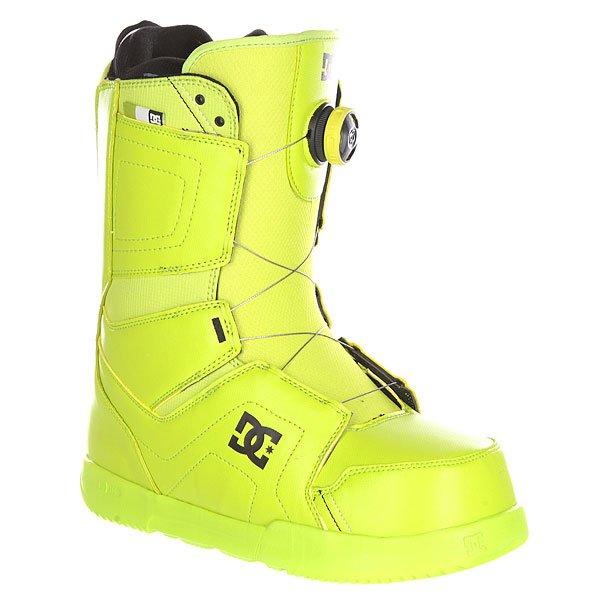 Ботинки для сноуборда DC Scout Boax LimeБотинки<br>Мужские сноубордические ботинки Scout из сноубордической коллекции DC Shoes.Технические характеристики: Шнуровка Boa® H3 Coiler Closure System.Подошва Foundation UniLite - запатентованная технология обеспечивает прочность, амортизацию, устойчивость к деформации и маленький вес. Она сконструирована так, чтобы избежать налипания снега.Внутренний сапог Red.Базовая стелька Snow Basic.<br><br>Размер EU: DC man B: 12us 46eur 29.25cm<br>Цвет: зеленый<br>Тип: Ботинки для сноуборда<br>Возраст: Взрослый<br>Пол: Мужской