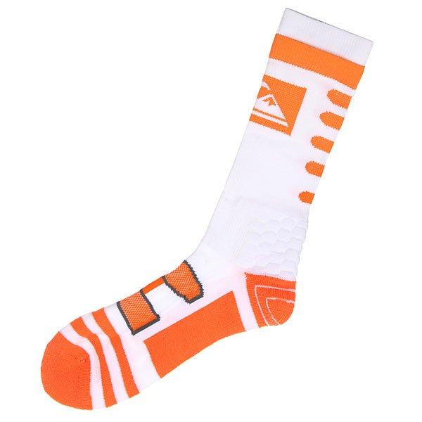 Носки высокие Quiksilver Crew WhiteНижнее белье<br><br><br>Размер EU: 10/13<br>Цвет: оранжевый,белый<br>Тип: Носки высокие<br>Возраст: Взрослый<br>Пол: Мужской