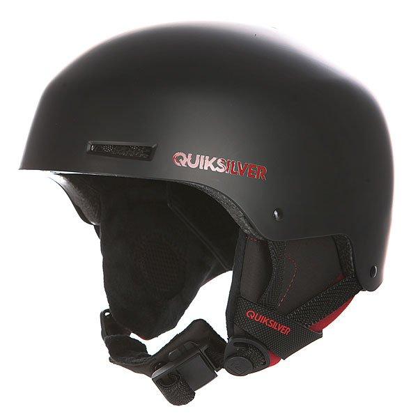 Шлем для сноуборда Quiksilver Axis BlackШлемы<br>Защитный шлем Quiksilver Axis для зимних видов спорта.Характеристики:Суперпрочная конструкция шлема изготовлена из ABS-пластика. Для данной модели также характерен амортизирующий наполнитель из пены EPS. Внутренняя поверхность шлема сделана из мягкой флисовой подкладки. Съемные мягкие ушные накладки. Регулируемый ремешок с мягкой вставкой для подбородка из шерпы. Застежка Fidlock® . Верхняя и нижняя вентиляция для лучшего воздухообмена. Вес: 550 гр.<br><br>Размер EU: S<br>Размер EU: M<br>Размер EU: L<br>Цвет: черный<br>Тип: Шлем для сноуборда<br>Возраст: Взрослый<br>Пол: Мужской