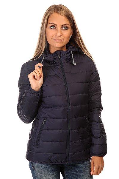 Куртка зимняя женская Roxy Foreverfreely J Jckt EclipseКуртки и Парки<br>Теплая и практичная стеганая куртка с капюшоном отлично подходит для активного зимнего отдыха.Технические характеристики: Подкладка - полиэстер.Фиксированный капюшон на шнурках.Карманы для рук на молнии.Эластичные манжеты и подол.Застежка - молния.<br><br>Размер EU: S<br>Размер EU: XS<br>Размер EU: M<br>Размер EU: L<br>Размер EU: XL<br>Цвет: синий<br>Тип: Куртка зимняя<br>Возраст: Взрослый<br>Пол: Женский