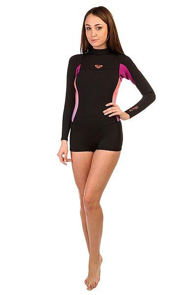 Гидрокостюм (Верх) женский Roxy Black/Violet/CoralГидрокостюмы<br>Гидрокостюмы Roxy идеально соответствуют потребностям начинающих сёрферов. Это первая линейка гидрокостюмов начального уровня, целиком и полностью сшитая из материала Hyperstretch II, что делает их на 18% эластичнее любого другого базового костюма: полная свобода движений особенно важна для начинающих в любом виде активного досуга или спорта. Характеристики:Нагрудная панель усовершенствована за счет технологии HFT HeatingSystem ( Hollow Fiber Technology System ), которая обеспечивает дополнительную теплоизоляцию.Водонепроницаемость спинной молнии гарантирована специальной панелью Hydroshield. Длинный рукав. Высокий воротник.<br><br>Размер EU: 4<br>Размер EU: 6<br>Размер EU: 8<br>Размер EU: 10<br>Цвет: черный,розовый,фиолетовый<br>Тип: Гидрокостюм (Верх)<br>Возраст: Взрослый<br>Пол: Женский