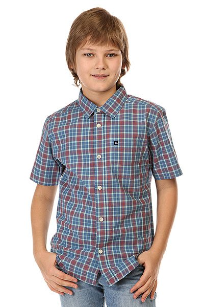 Рубашка в клетку детская Quiksilver Every Checks You Wvtp Everyday Check FederРубашки<br>Легкая рубашка с коротким рукавом и принтом в мелкую клетку для мальчиков от Quiksilver.Технические характеристики: Ткань Поплин - двухсторонняя, одноцветная или узорчатая ткань, образованная сочетанием тонкой плотной основы с более грубым и редким поперечным утком, образующим мелкий рубчик.Классический крой.Короткие рукава.Отложной воротник.Нагрудный карман с логотипом.Застежка - пуговицы.Сплошной принт в мелкую клетку.<br><br>Размер EU: 10yrs<br>Размер EU: 12yrs<br>Размер EU: 14yrs<br>Размер EU: 16yrs<br>Цвет: голубой,бордовый<br>Тип: Рубашка в клетку<br>Возраст: Детский