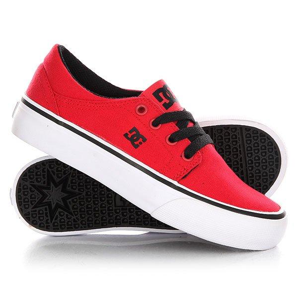 Кеды кроссовки низкие детские DC Trase Tx Athletic Red