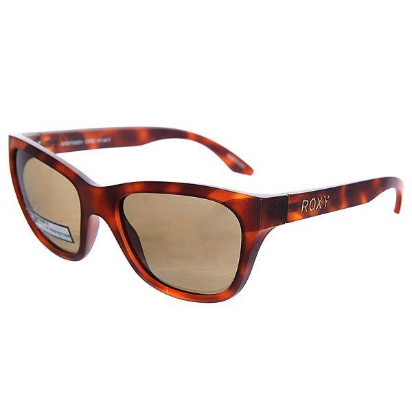 Очки женские Roxy Minka Matt/Tor BrownСолнцезащитные очки<br>Элегантные женские очки в винтажном стиле от Roxy.Технические характеристики: Материал оправы Grilamid - современный полимер, используемый для солнцезащитных очков, обладает высокой устойчивостью к высоким температурам и ударопрочностью.Прочные линзы из поликарбоната с защитой от царапин.100% защита от ультрафиолетовых лучей.Линзы Carl Zeiss Vision.Чехол в комплекте.<br><br>Размер EU: One Size<br>Цвет: коричневый<br>Тип: Очки<br>Возраст: Взрослый<br>Пол: Женский