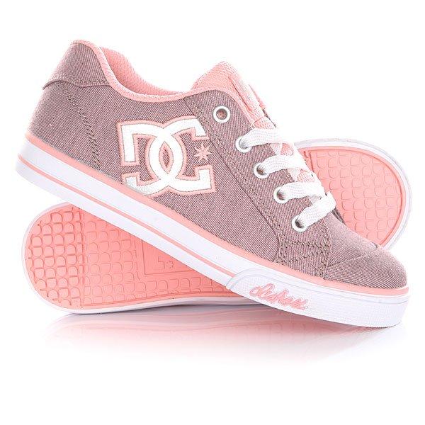 Кеды кроссовки низкие детские DC Chelsea Tx Se Pink/White