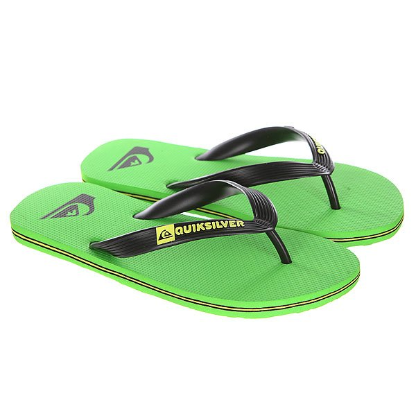 Вьетнамки детские Quiksilver Molokai Black/GreenСланцы<br>Легкие пляжные шлепанцы в ярком летнем дизайне от Quiksilver.Технические характеристики: Гибкий синтетический каучуковый ремешок.Нескользящая текстурированная стелька.Прочная резиновая подошва с яркими полосками и логотипом Quiksilver.<br><br>Размер EU: 31<br>Размер US: 13<br>Размер CM: 19.5<br>Размер EU: 38<br>Размер US: 5.5<br>Размер CM: 24<br>Размер EU: 39<br>Размер US: 6<br>Размер CM: 24.5<br>Размер EU: 32<br>Размер US: 1<br>Размер CM: 21<br>Размер EU: 34<br>Размер US: 3<br>Размер CM: 22<br>Размер EU: 35<br>Размер US: 3.5<br>Размер CM: 22.5<br>Размер EU: 36<br>Размер US: 4<br>Размер CM: 23<br>Размер EU: 33<br>Размер US: 2<br>Размер CM: 21.5<br>Размер EU: Quik kids: 5us 37eur 23.75cm<br>Размер EU: 29<br>Размер US: 12<br>Размер CM: 19.5<br>Размер EU: 30<br>Размер US: 12.5<br>Размер CM: 20<br>Размер EU: 28<br>Размер US: 11<br>Размер CM: 19<br>Цвет: зеленый,черный<br>Тип: Вьетнамки<br>Возраст: Детский