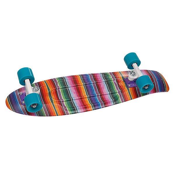 """Скейт мини круизер Penny Original Ltd Baja Multicolor 22 (55.9 см)Лонгборды<br>Обновленная модель, представленная в новых сладких оттенках.Подвеска: &amp;nbsp;4"""" powder-coated PennyКолеса: &amp;nbsp;59мм/78АПодшипники: ABEC 7<br><br>Размер EU: 22 (55.9 см)<br>Цвет: розовый,фиолетовый<br>Тип: Скейт мини круизер"""