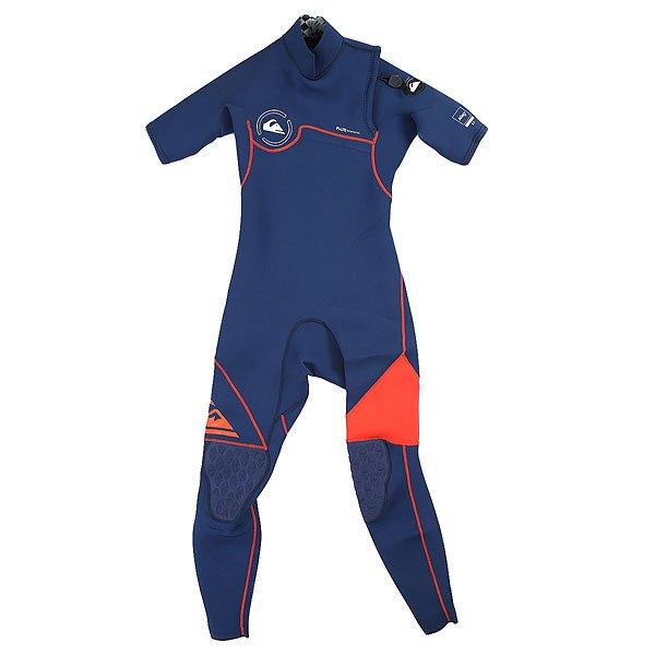 Гидрокостюм (Комбинезон) детский Quiksilver 2/2mm Ag47 Zipless  Ink Blue/ OrangeГидрокостюмы<br><br><br>Размер EU: 10yrs<br>Цвет: синий<br>Тип: Гидрокостюм (Комбинезон)<br>Возраст: Детский