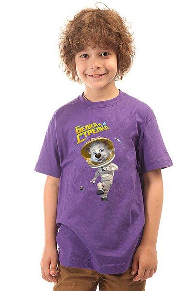 Футболка детская Белка Фиолетовая