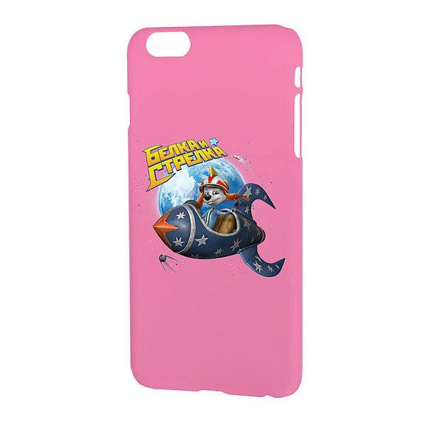 Чехол для iPhone Белка и Стрелка Матовый Розовый Привет Из Космоса