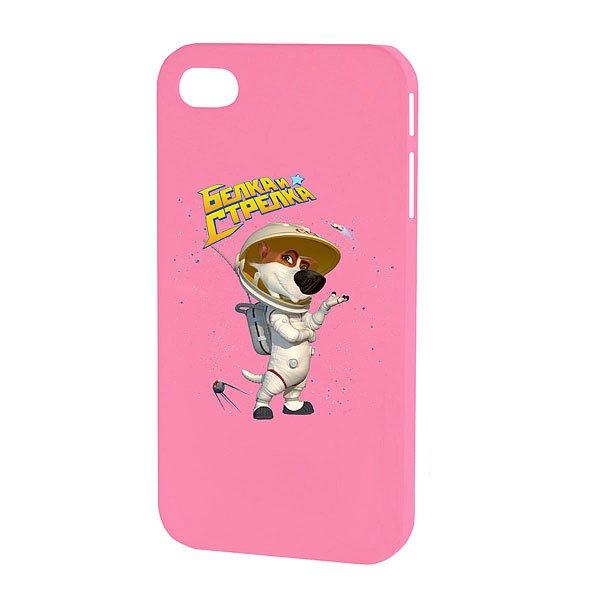Чехол для iPhone Белка и Стрелка Матовый Розовый Стрелка
