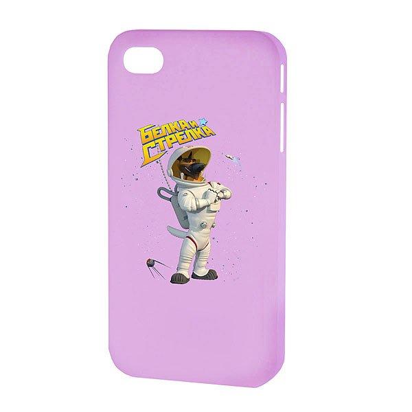 Чехол для iPhone Белка и Стрелка Матовый Фиолетовый Казбек
