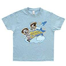 Футболка детская Космическая Прогулка Голубая