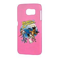 Чехол для Samsung S6 Белка и Стрелка Матовый Розовый Звездые Собаки