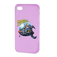 Чехол для iPhone Белка и Стрелка Матовый Фиолетовый Привет Из Космоса
