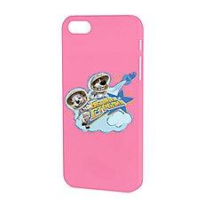 Чехол для iPhone Белка и Стрелка Матовый Розовый Космическая Прогулка