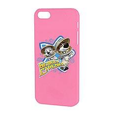 Чехол для iPhone Белка и Стрелка Матовый Розовый Привет Невесомость
